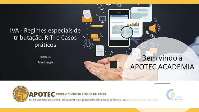 Course Image IVA - Regimes especiais, RITI e Casos Práticos