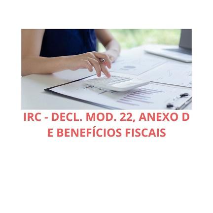 Course Image IRC - Decl. Mod. 22, Anexo D e Benefícios fiscais