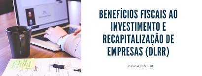 Course Image Benefícios fiscais ao investimento e recapitalização de empresas (DLRR)